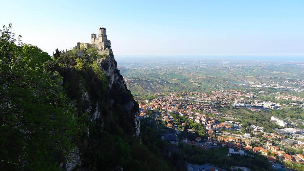Blick auf La Guaita in San Marino
