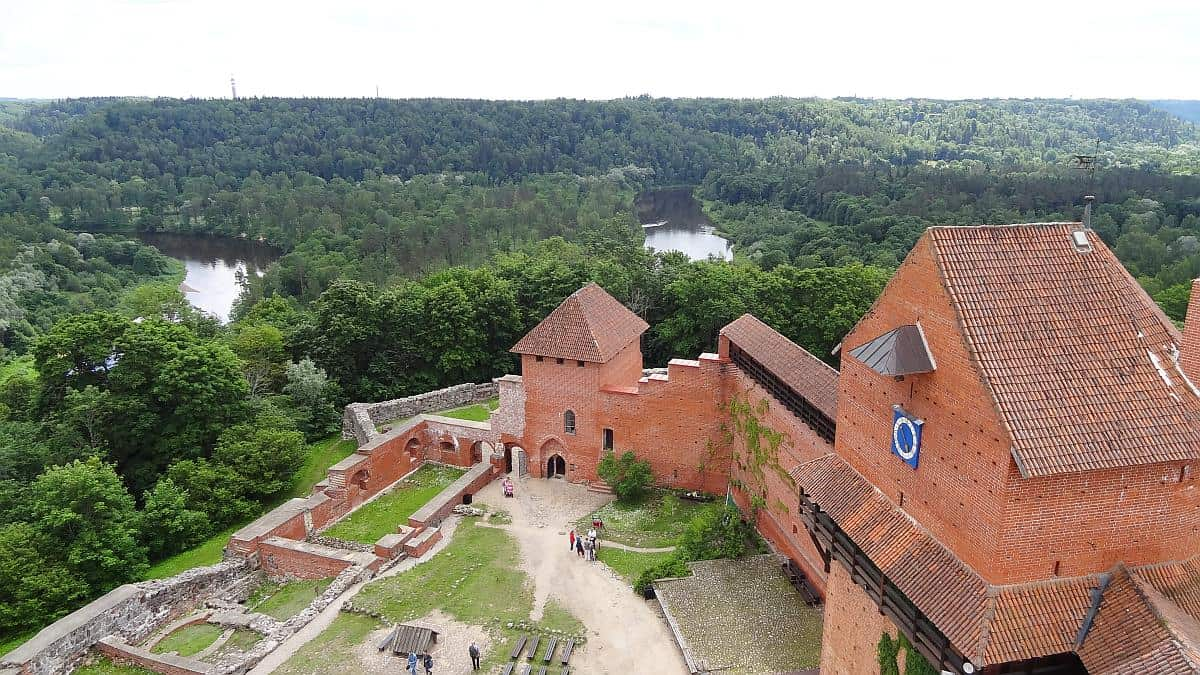 Aussicht vom Bergfried in Turaida, Gauja-Nationalpark