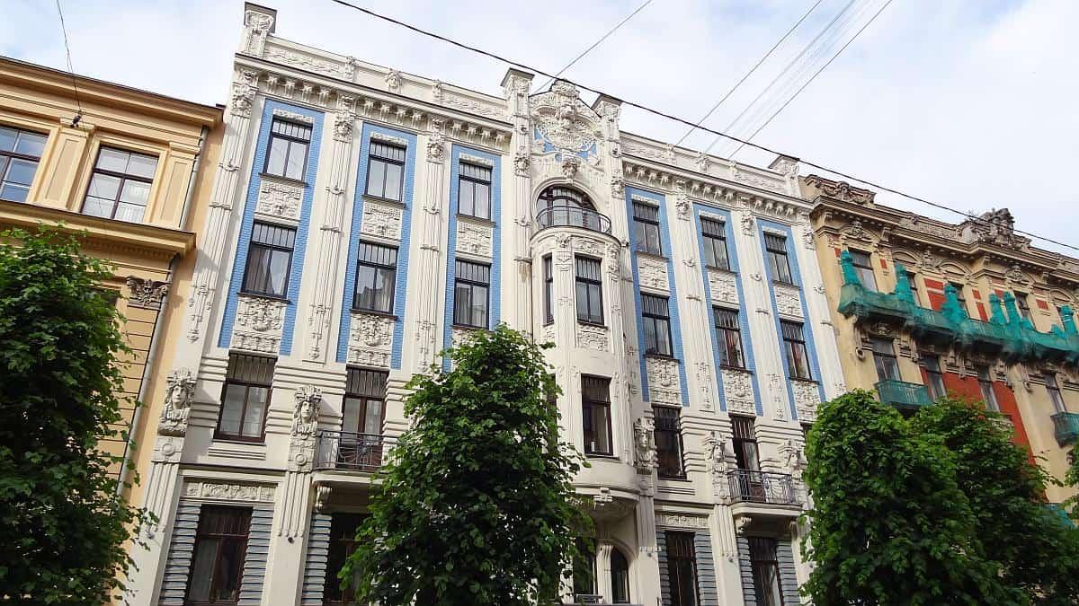 Jugendstil Alberta iela - Riga an einem Tag