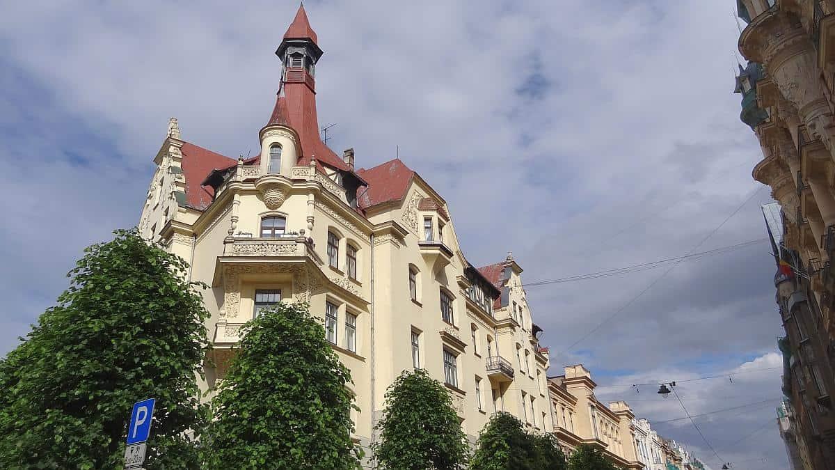 Jugenstilhaus - Riga an einem Tag