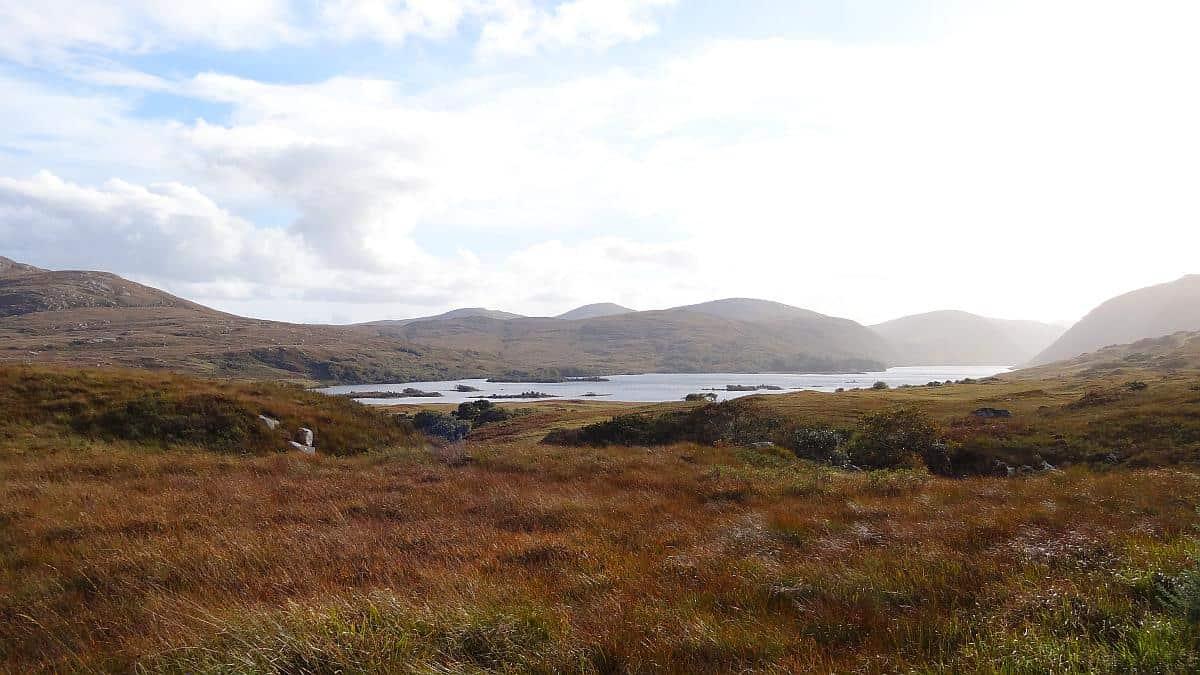 Blick vom Hochmoor im Glenveagh National Park