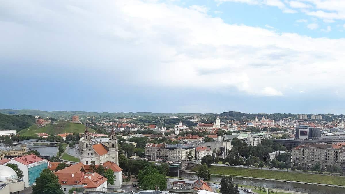 Aussicht über Vilnius, Roadtrip durchs Baltikum