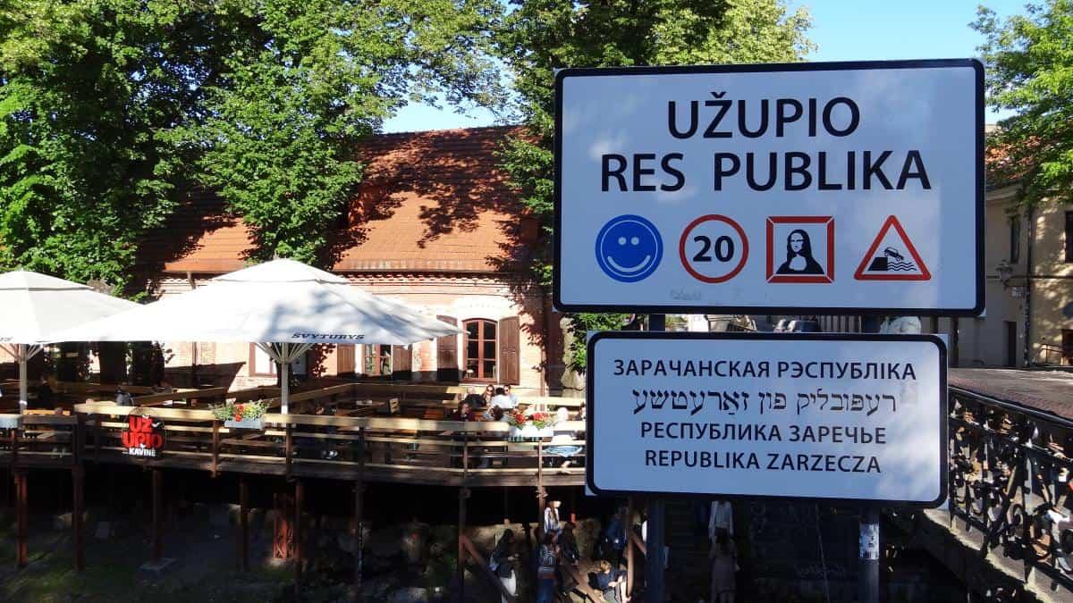 Užupio Kavinė Vilnius an einem Tag