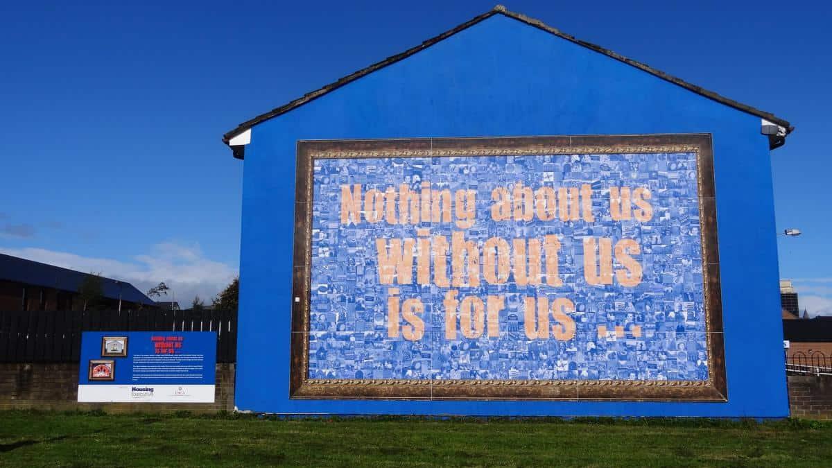 Mural in Belfast, Nordirland