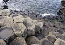 Basaltsäulen am Giant's Causeway, Nordirland in zwei Tagen