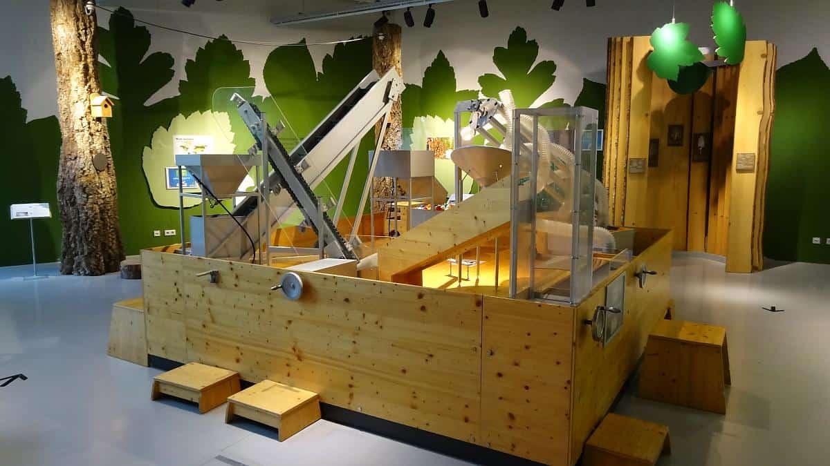Modell Pelletfabrik im Welios in Wels