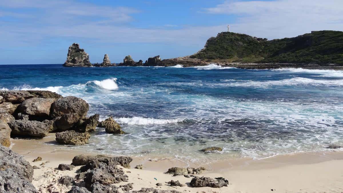 Bucht an der Pointe des Châteaux, Grande-Terre, Guadeloupe