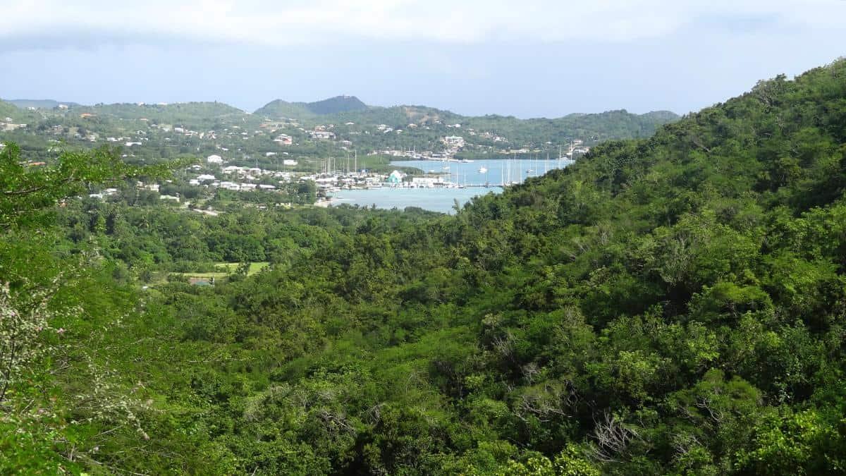 Landschaftspanorama, Antigua