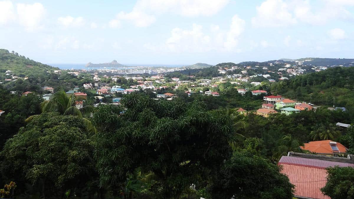 Blick auf Pigeon Island, St. Lucia
