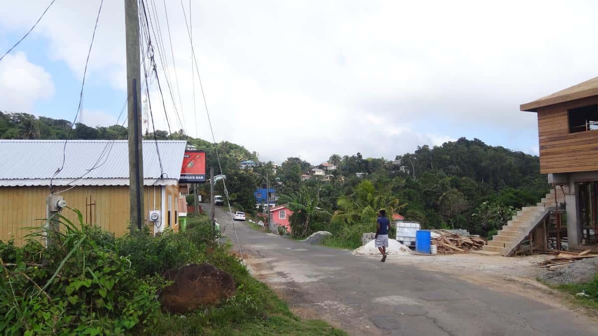 Typisches Dorf, St. Lucia