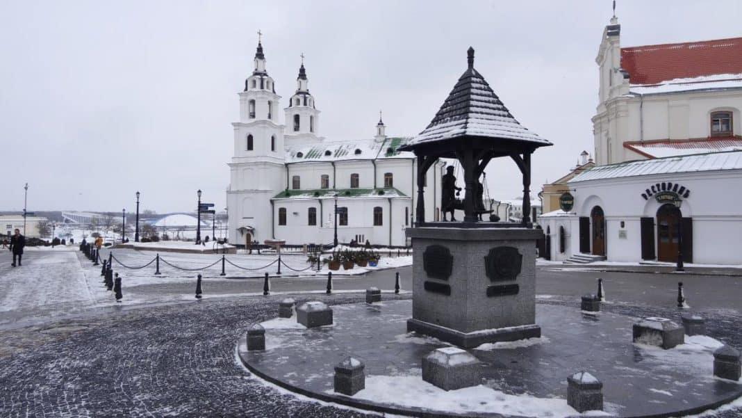 Freiheitsplatz in Minsk - Wochenende in Weißrussland