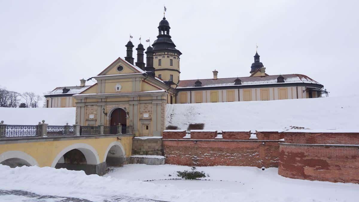 Außenfassade Schloss Njaswisch