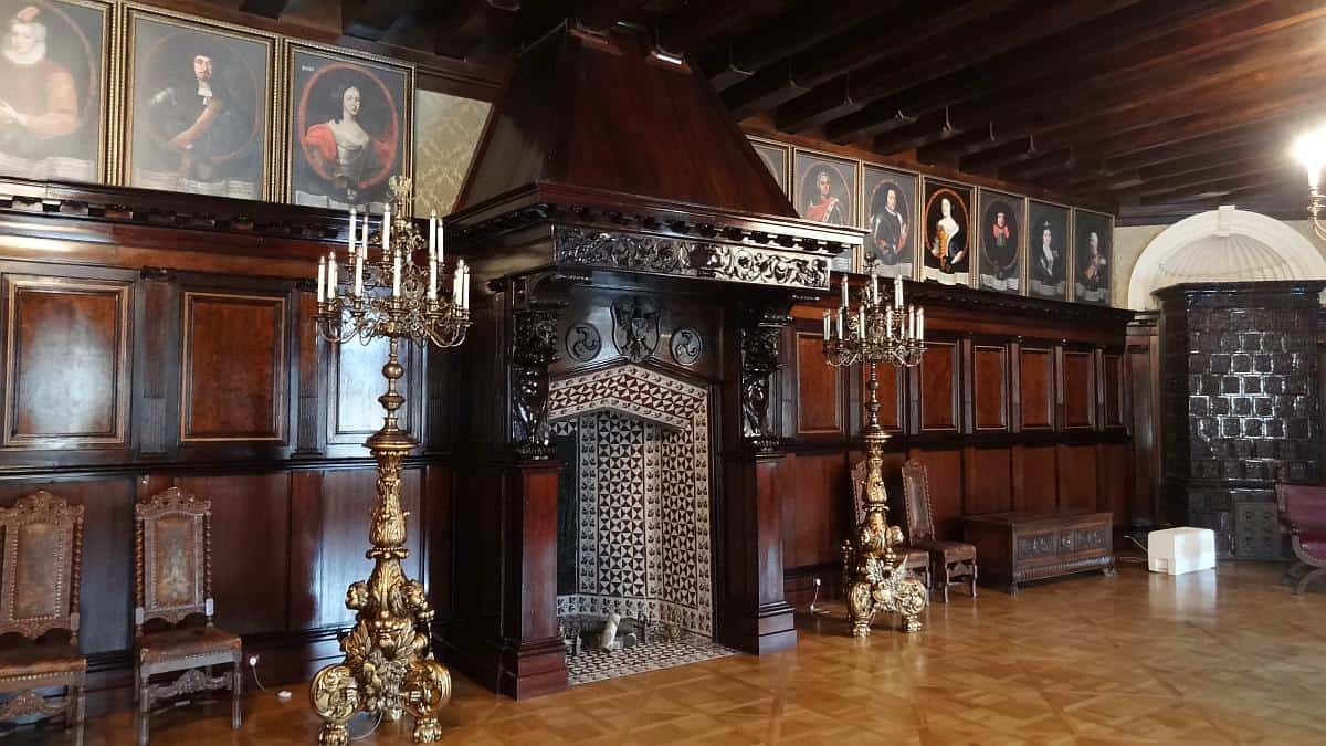 Kaminzimmer in Schloss Njaswisch