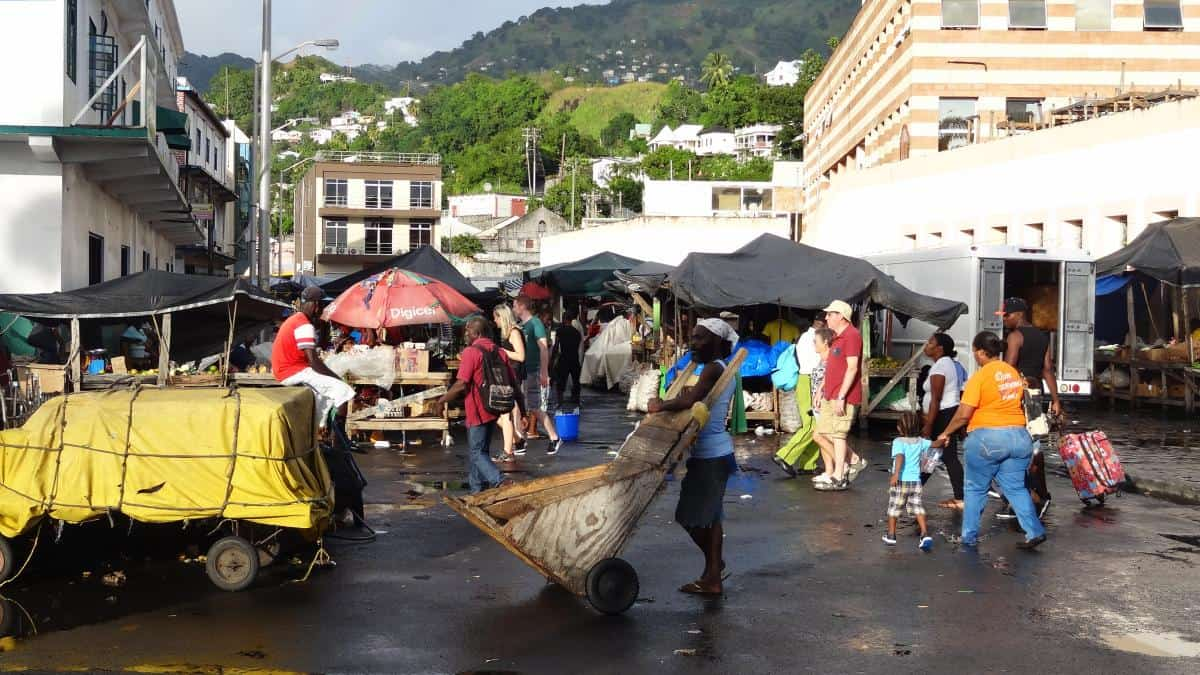 Markt in Kingstown, St. Vincent