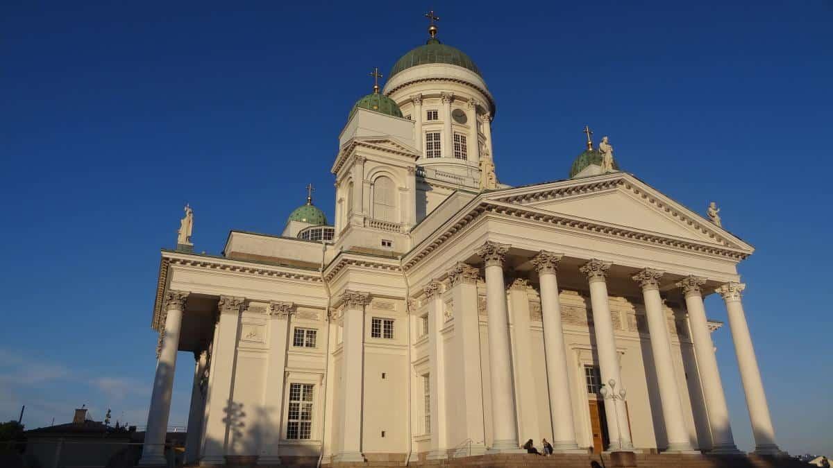 Der imposante Dom zu Helsinki