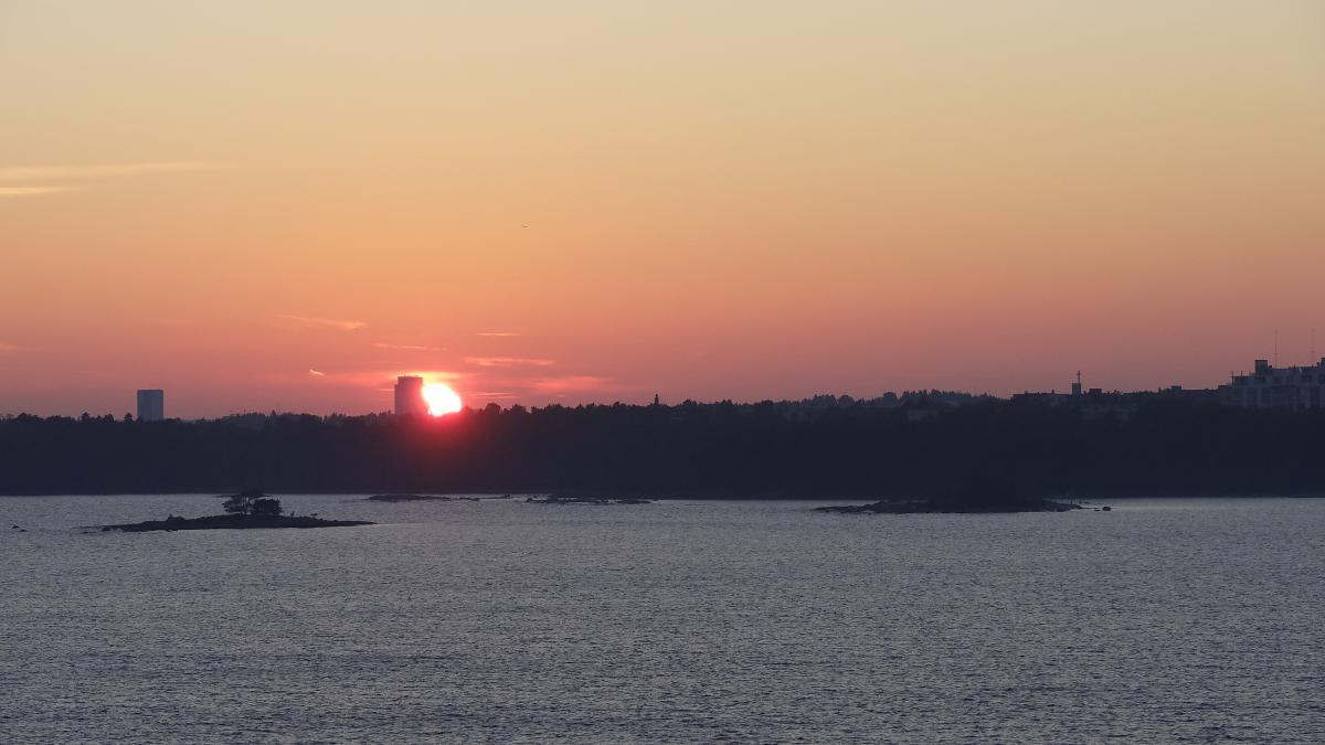 Sonnenuntergang über den Schären