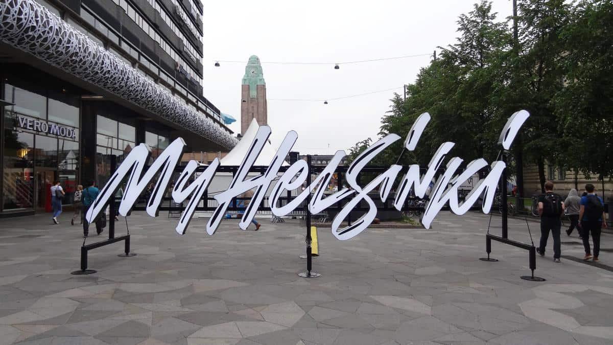 Städteschriftzug - Ein Tag in Helsinki