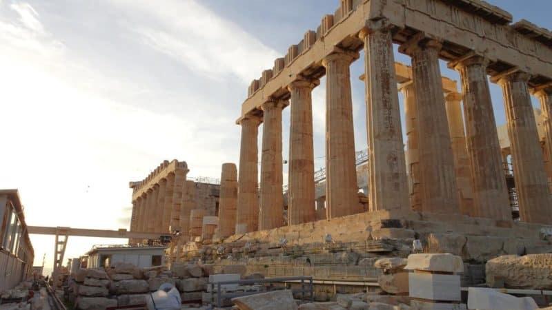 Restaurierungsarbeiten am Parthenon