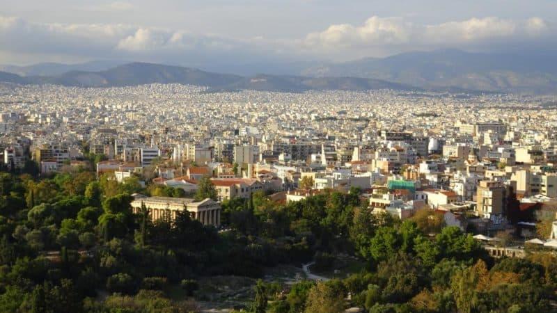 Aussicht über Athen vom Areopag