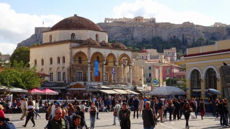 Blick auf die Akropolis und den Monastiraki-Platz