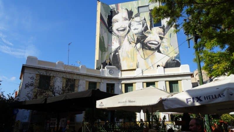 Murals in Psirrí, Athen