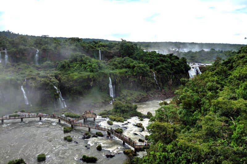 Panorma vom Iguazu-Aussichtsturm