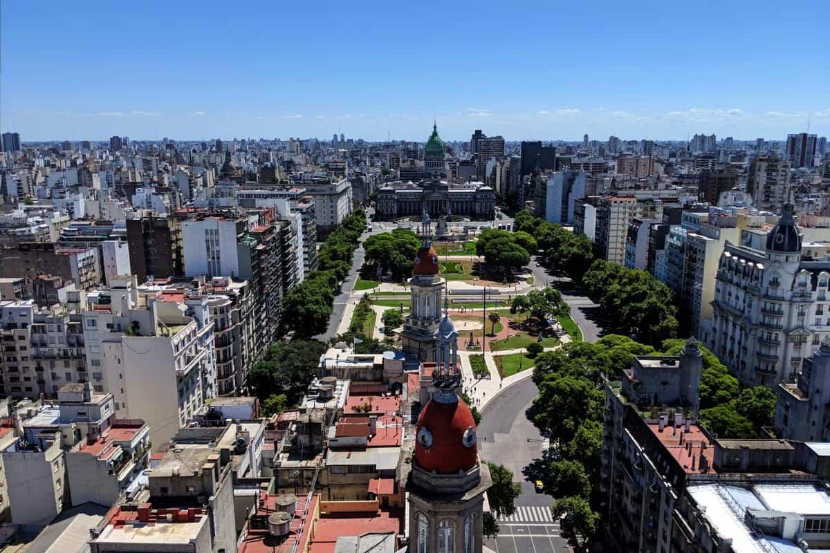 Aussicht vom Turm des Palacio Barolo in Buenos Aires