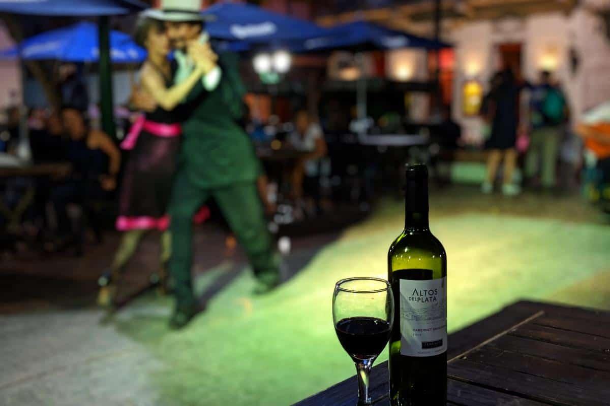 Tangoabend auf der Plaza Dorrego in der Altstadt San Telmo