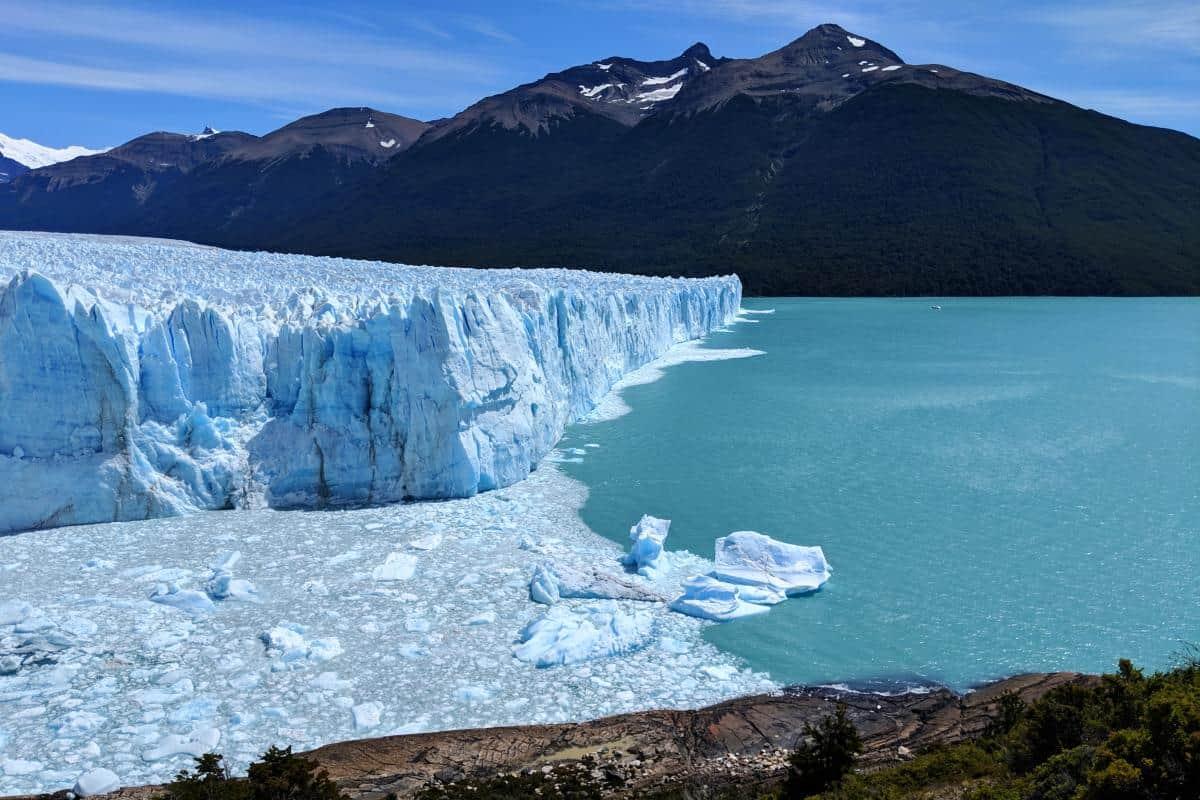 Abbruchkante des Perito-Moreno-Gletschers in Patagonien