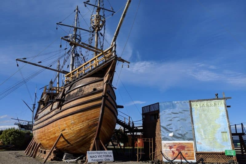Originalgetreues Modell der Nao Victoria, Magellans Schiff bei seiner Weltumsegelung