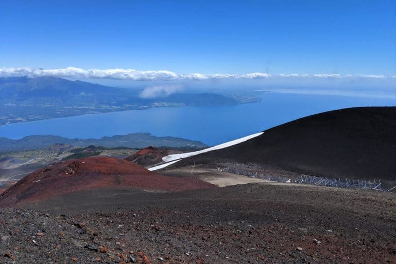 Aussicht vom Vulkan Osorno