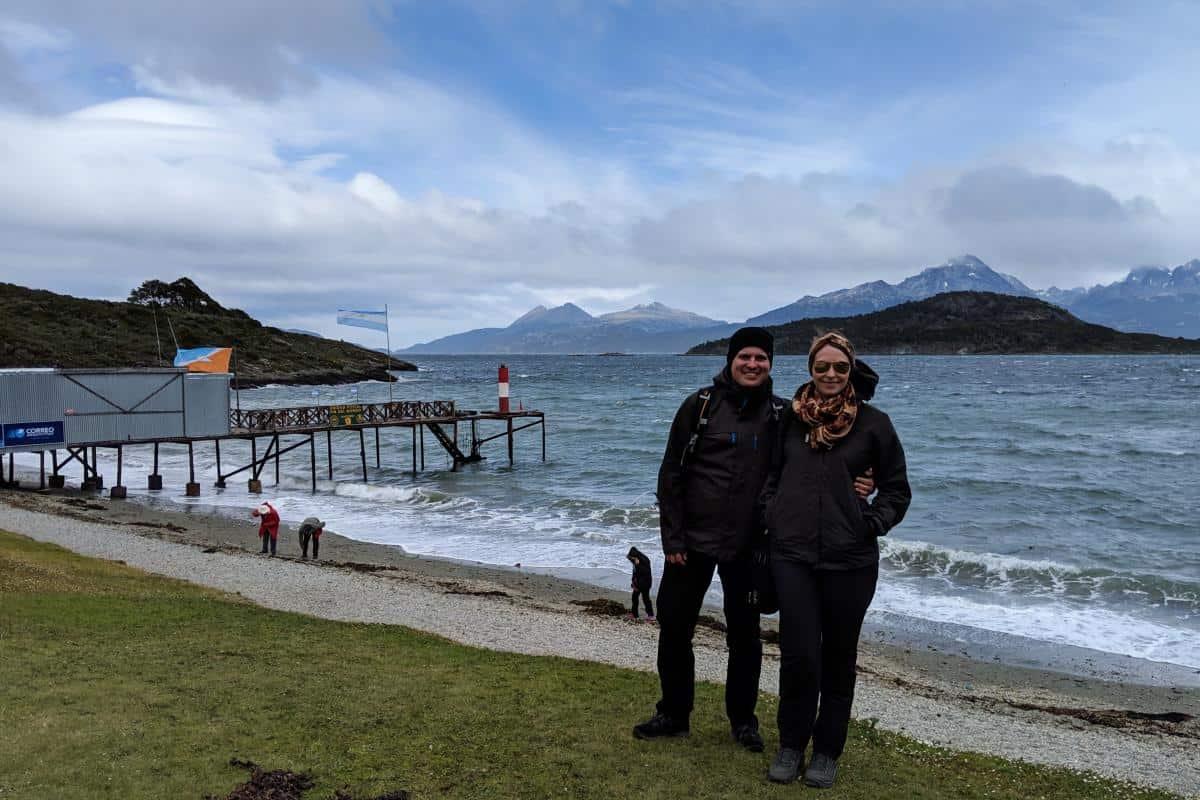 Wolfgang und Jessica in der Bahia Ensenada
