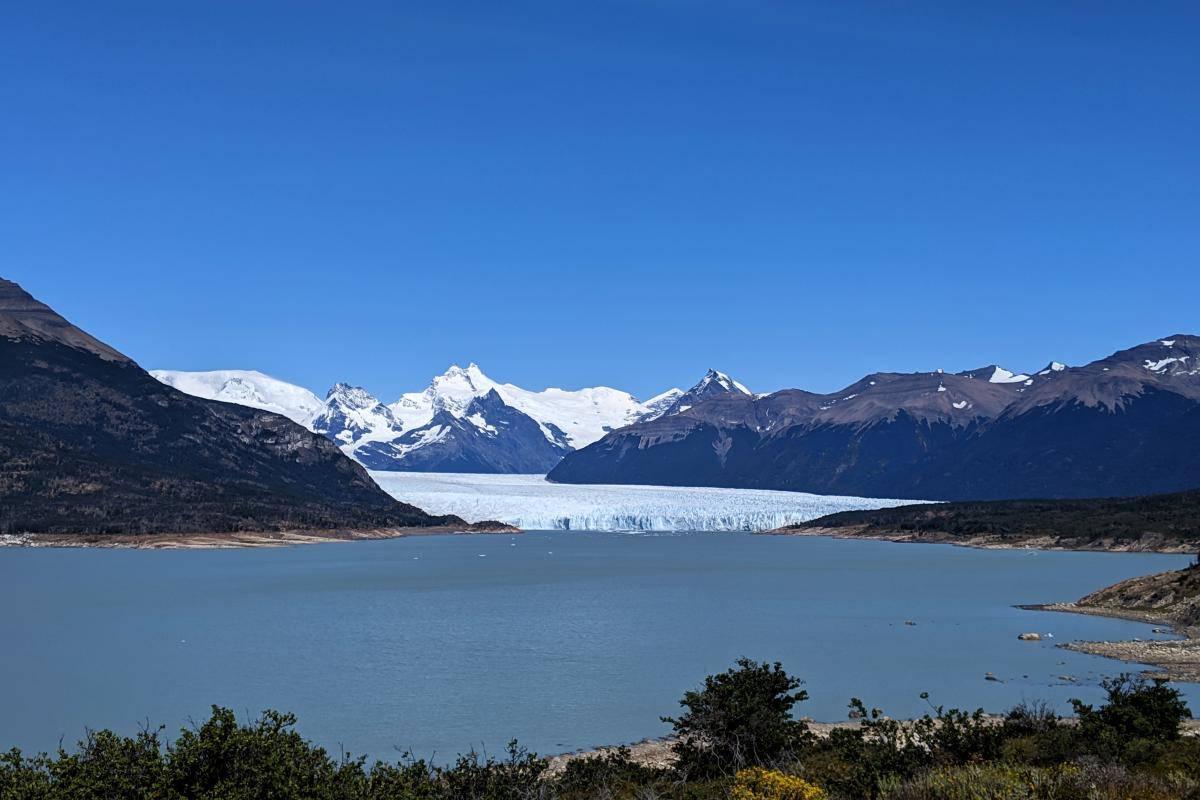 Erster Blick auf den Perito-Moreno-Gletscher