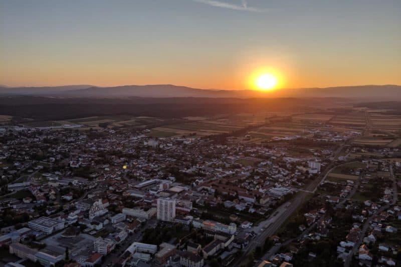 Sonnenuntergang über Oberwart