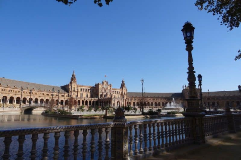 Blick auf Plaza de España in Sevilla, Andalusien