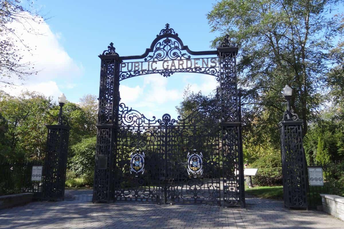 Schmiedeeisernes Tor der Halifax Public Gardens