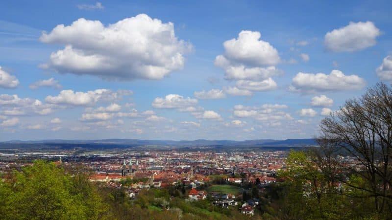 Aussicht über Bamberg von der Altenburg