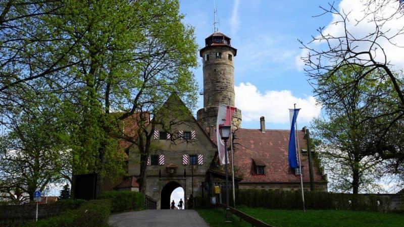 Eingangsbereich der Altenburg in Bamberg
