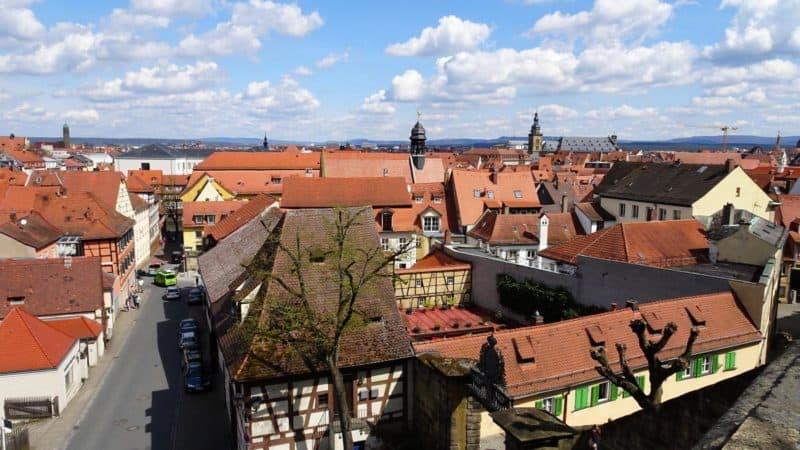 Blick vom Rosengarten über die Bamberger Altstadt