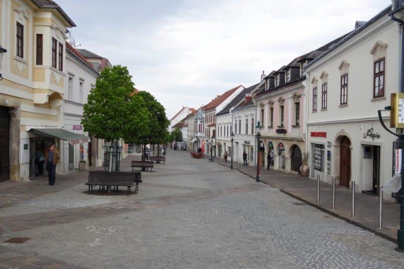 Fußgängerzone im Zentrum von Eisenstadt