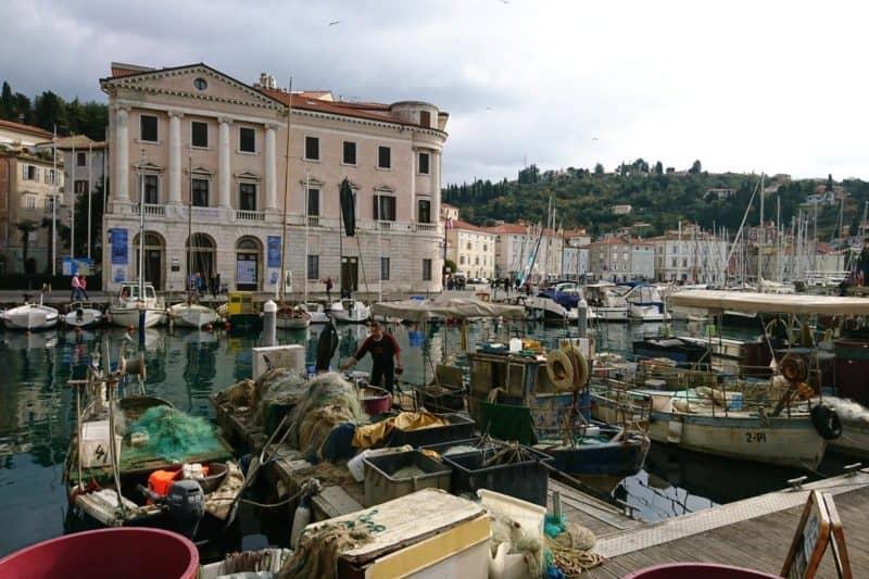 Boote im Hafen von Piran