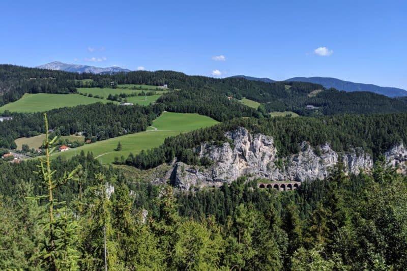 Blick auf den Schneeberg von der Doppelreiterwarte