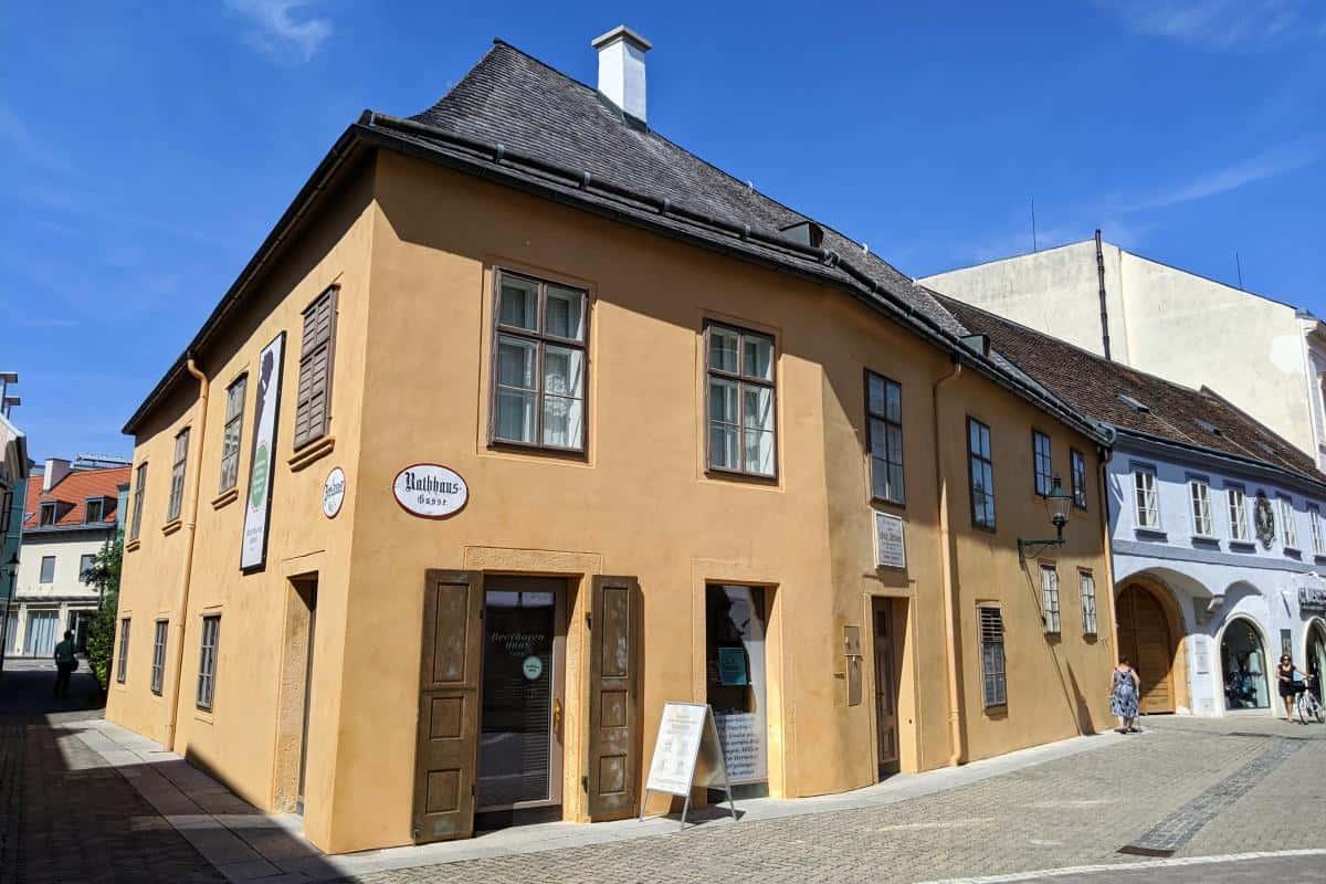 Das gelb gestrichene Beethovenhaus in Baden