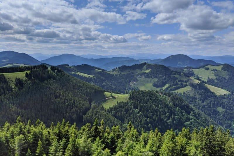 Weitblick über das Almenland vom Plankogel