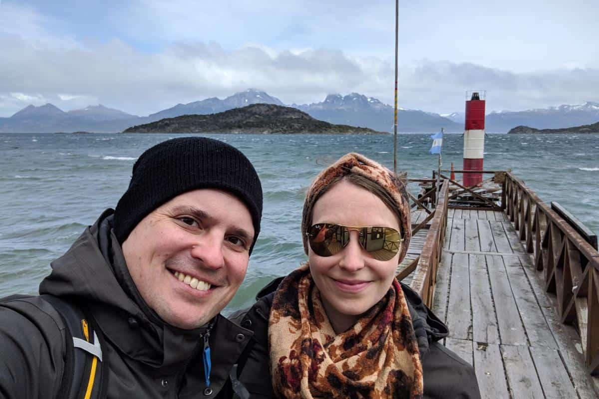 Wolfgang und Jessica am Ende der Welt in Feuerland, Argentinien