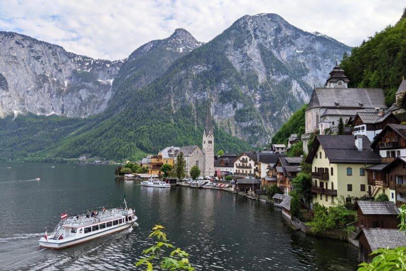Hallstatt Heritage View auf die Altstadt - Seen im Salzkammergut